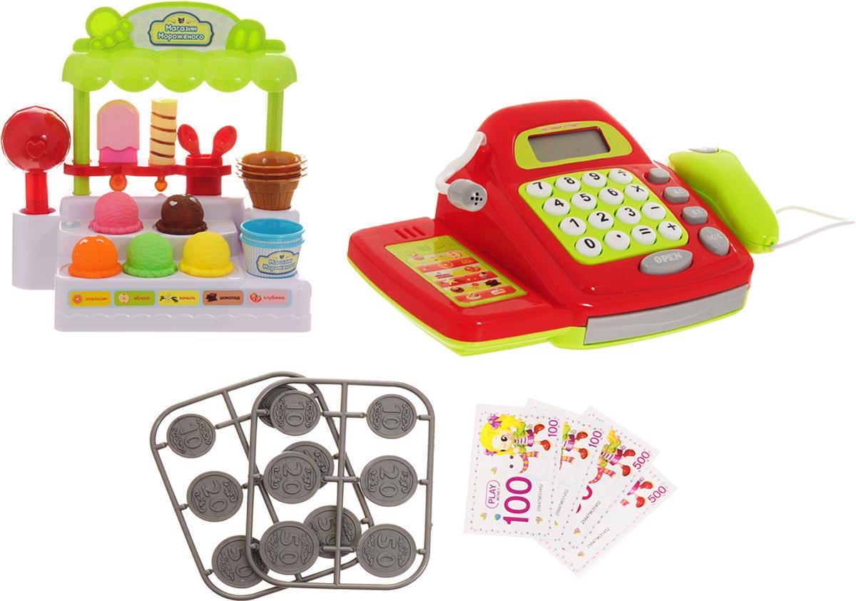ABtoys Игровой набор Помогаю Маме Магазин мороженого - Сюжетно-ролевые игрушки