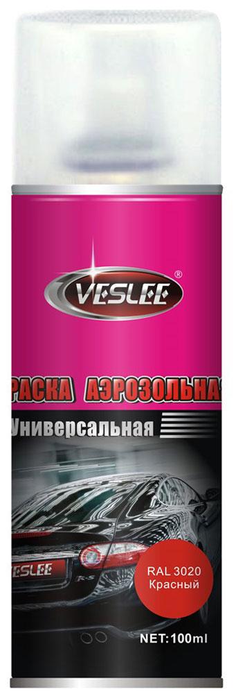 Краска акриловая Veslee, аэрозоль, цвет: красный, 100 млVL-P2E 3020Краска Veslee предназначена для высококачественного окрашивания поверхностей, сделанных из дерева, металла и пластика. Идеальна для окрашивания автомобилей, мотоциклов, различного оборудования, приборов, мебели и прочего. Имеет широчайшую палитру цветов и форм. Такая краска не желтеет и не выцветает, то есть является атмосферостойкой. Акриловые краски могут быть использованы как для полного окрашивания, так и для подкрашивания. Прекрасно подходят не только для транспортных средств, но и для любого другого оборудования. Они могутуспешно использованыдля декорирования различных деталей интерьера и разных поверхностей не только в быту, но и в офисе или магазине.