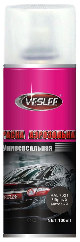 """Краска акриловая """"Veslee"""", аэрозоль, цвет: черный матовый, 100 мл VL-P2E 7021"""