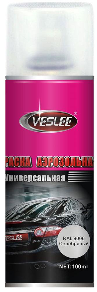 Краска аэрозольная Veslee, цвет: серебряный, 100 млVL-P2E 9006Предназначается для высококачественного окрашивания поверхностей, сделанных из дерева, металла и пластика. Идеальна для окрашивания автомобилей, мотоциклов, различного оборудования, приборов, мебели и прочего. Имеет широчайшую палитру цветов и форм. Такая краска не желтеет и не выцветает, то есть является атмосферостойкой. Акриловые краски могут быть использованы как для полного окрашивания, так и для подкрашивания. Прекрасно подходят не только для транспортных средств, но и для любого другого оборудования, такого как кухонное, например. Они могут успешно использованы для декорирования различных деталей интерьера и разных поверхностей не только в быту, но и в офисе или магазине. Аэрозольная краска на акрилово-эпоксидной основе является наиболее экономичным вариантом. Являются универсальными - они годятся как для наружных, так и для внутренних работ, устойчивы к неблагоприятным атмосферным явлениям, не выцветают и не желтеют со временем. Такие краски благодаря своим уникальным свойствам надежно защищают поверхности от окисления и ржавчины и вполне пригодны как для полного окрашивания поверхностей, так и для частичного. Весьма положительным качеством, которым обладают акриловые краски, является то, что они не содержат свинца и ртути. Срок годности 5 лет.