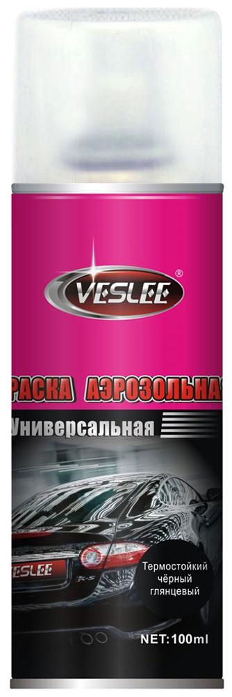 Краска аэрозольная Veslee, термостойкая, цвет: черный, 100 млVL-P2E TBАэрозольная краска Veslee предназначается для высококачественного окрашивания поверхностей, сделанных из дерева, металла и пластика. Идеальна для окрашивания автомобилей, мотоциклов, различного оборудования, приборов, мебели и прочего. Имеет широчайшую палитру цветов и форм. Такая краска не желтеет и не выцветает, то есть является атмосферостойкой. Акриловые краски могут быть использованы как для полного окрашивания, так и для подкрашивания. Прекрасно подходят не только для транспортных средств, но и для любого другого оборудования, такого как кухонное, например. Они могут успешно использованы для декорирования различных деталей интерьера и разных поверхностей не только в быту, но и в офисе или магазине. Аэрозольная краска на акрилово-эпоксидной основе является наиболее экономичным вариантом. Являются универсальными - они годятся как для наружных, так и для внутренних работ, устойчивы к неблагоприятным атмосферным явлениям. Такие краски благодаря своим уникальным свойствам надежно защищают поверхности от окисления и ржавчины и вполне пригодны как для полного окрашивания поверхностей, так и для частичного. Весьма положительным качеством, которым обладают акриловые краски, является то, что они не содержат свинца и ртути. Товар сертифицирован.