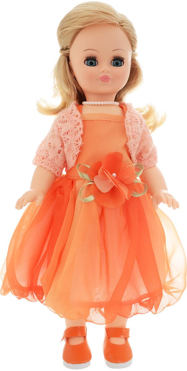 Весна Кукла озвученная Лиза цвет платья оранжевый весна кукла озвученная оля цвет одежды белый розовый голубой