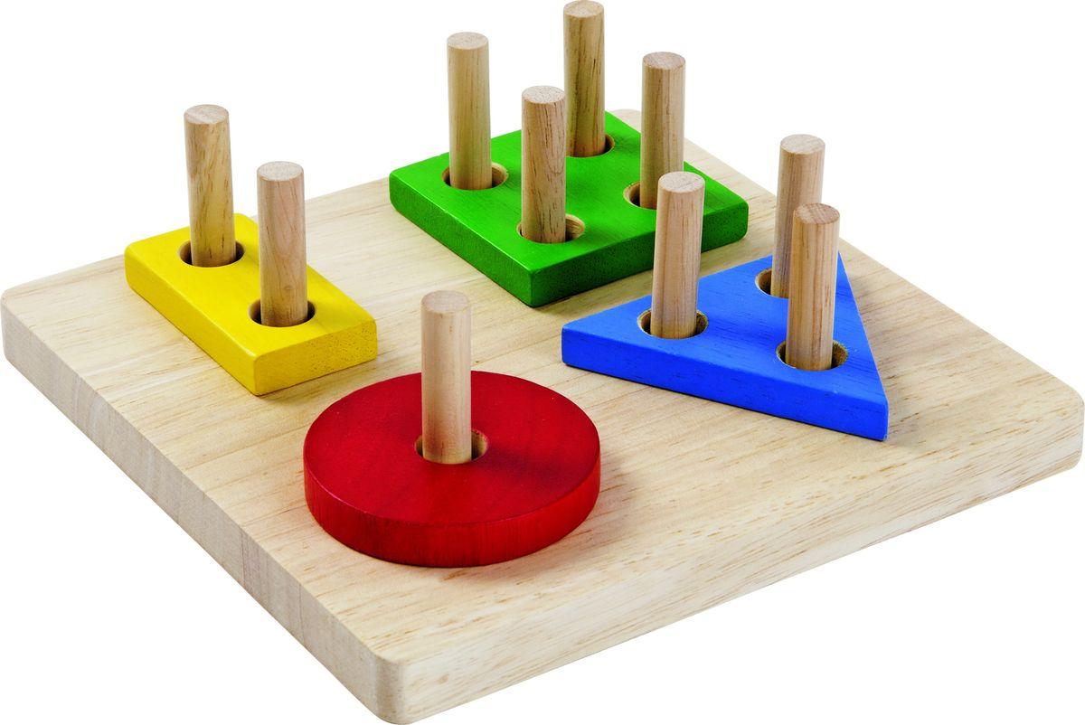 Plan ToysСортер Доска с геометрическими фигурами Plan Toys
