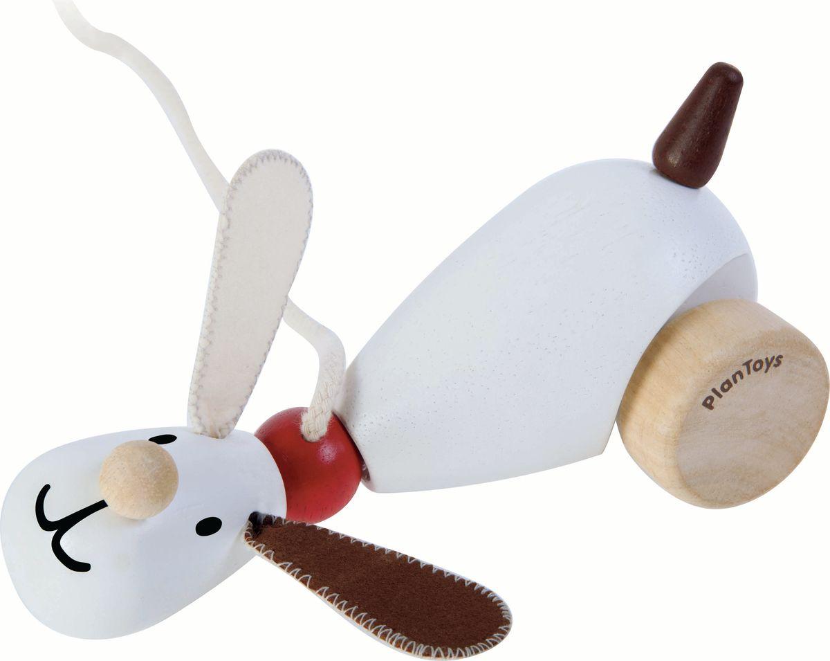 Plan Toys Каталка Собачка plan toys plan toys 6405 овальный ксилофон