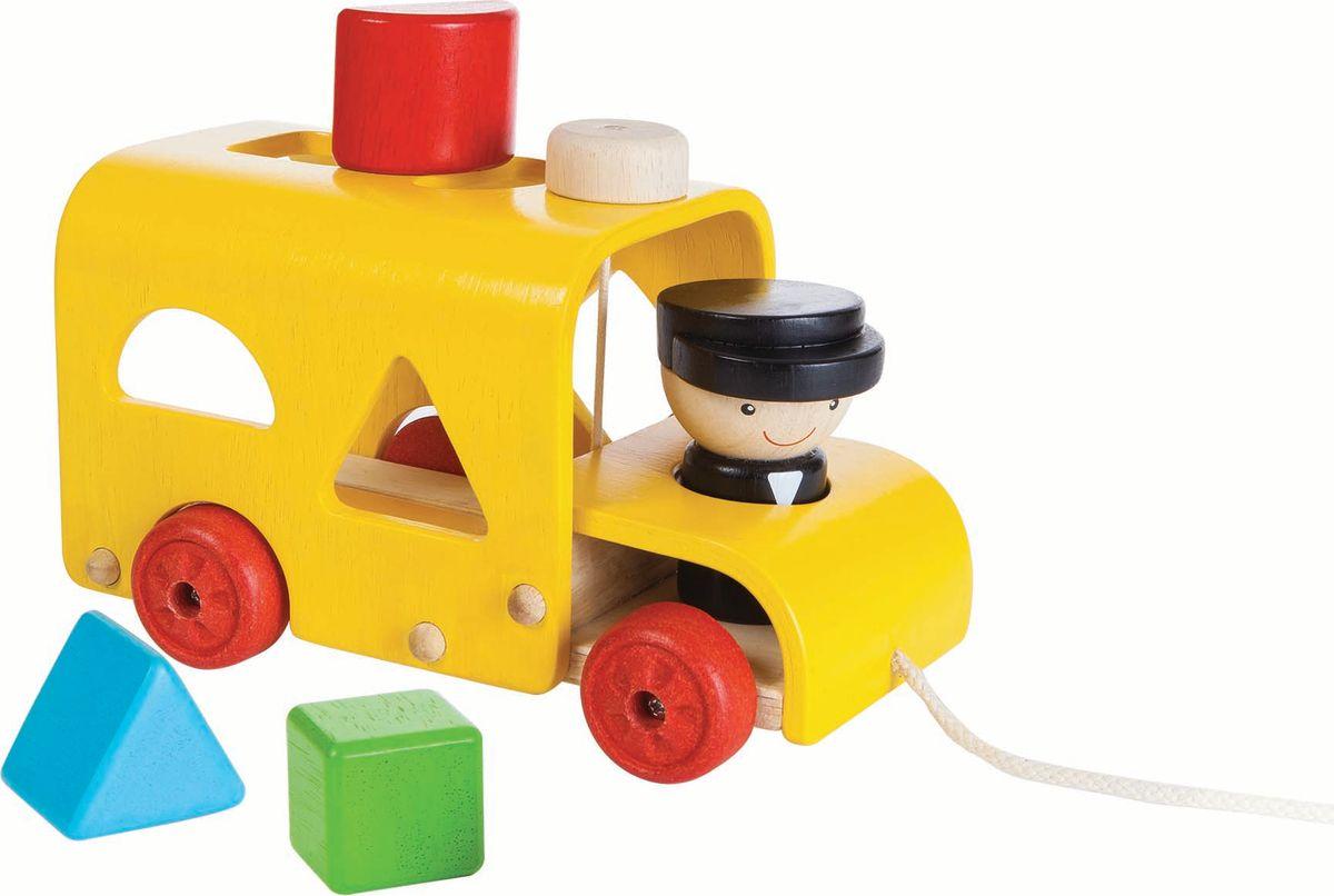 Plan Toys Сортер Автобус каталка утка plan toys