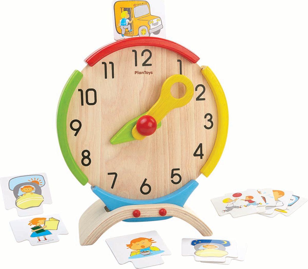Plan Toys Развивающая игрушка Часы каталка утка plan toys