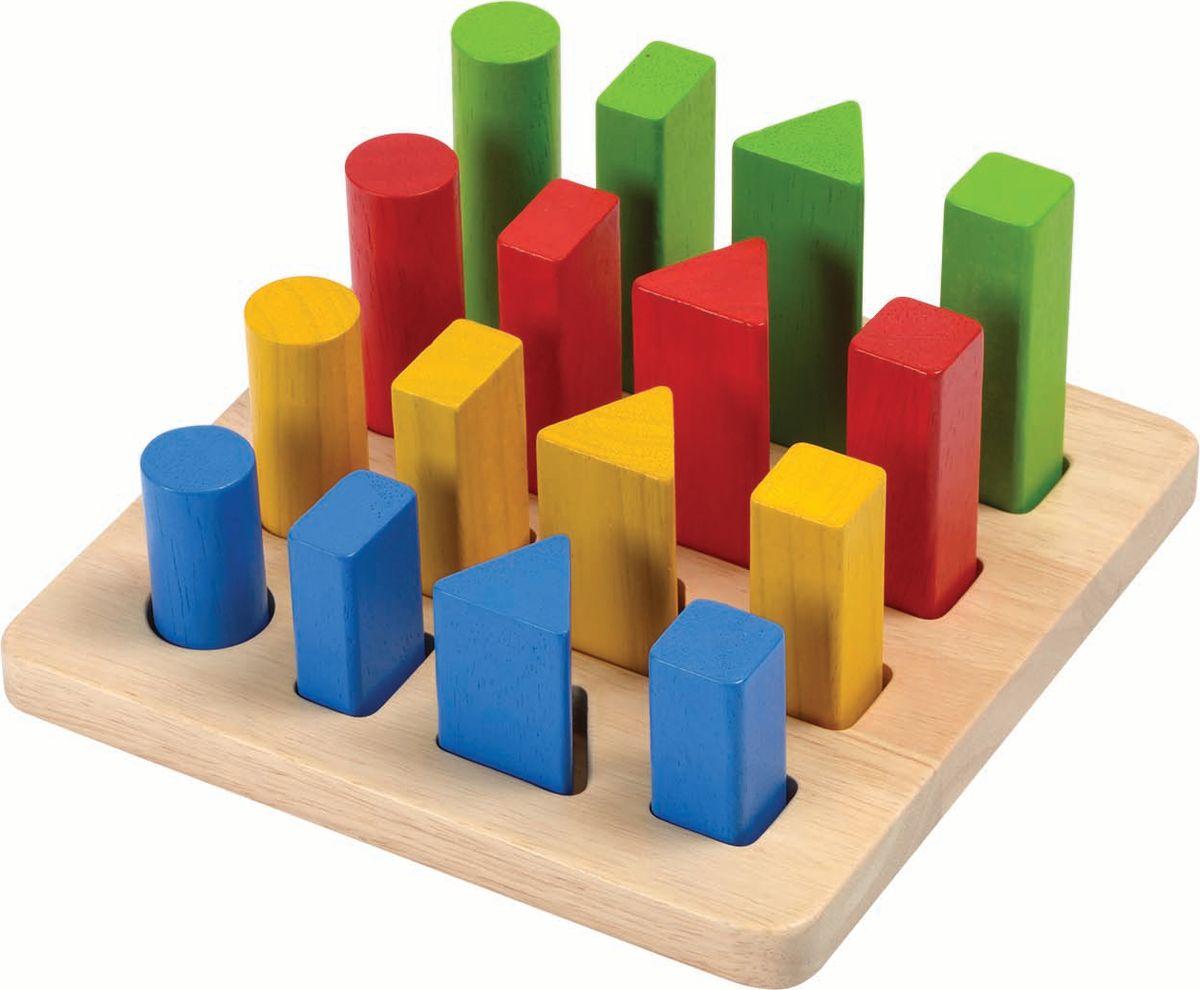 Plan Toys Геометрический сортер конструкторы plan toys игра кактус