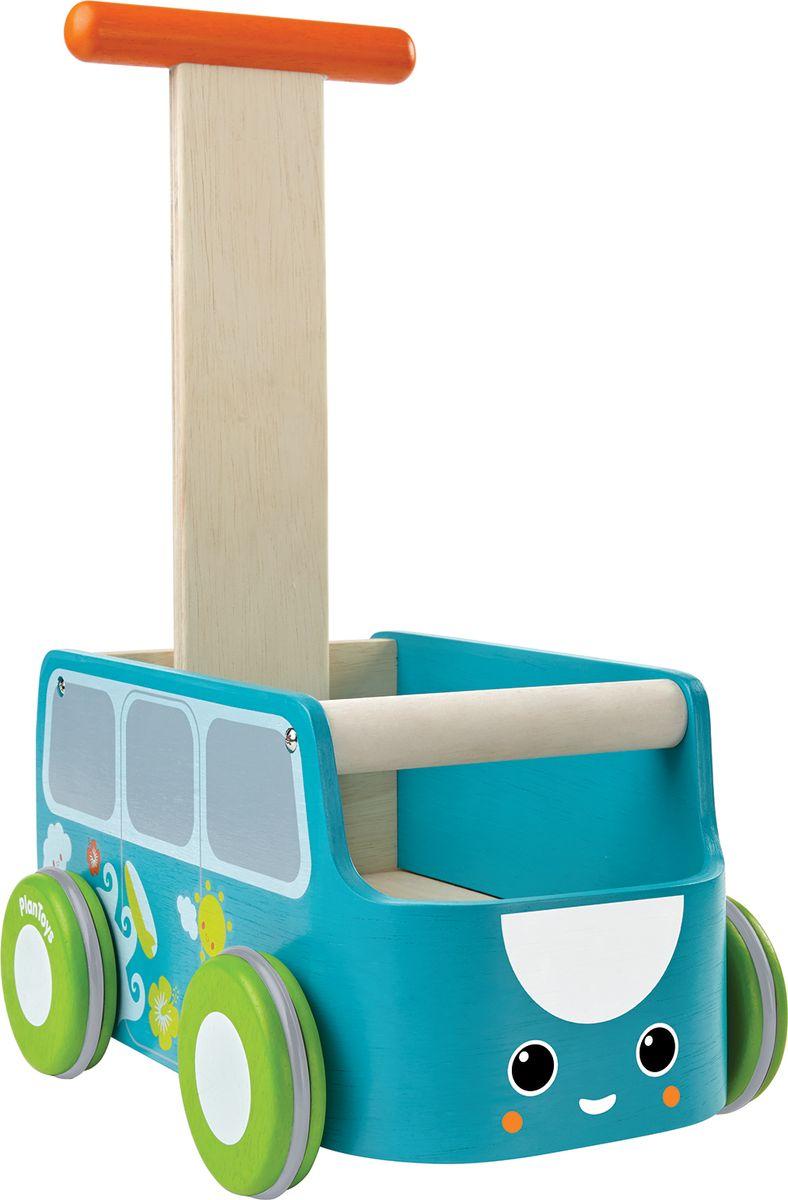 Plan Toys Каталка цвет голубой plan toys plan toys 6405 овальный ксилофон