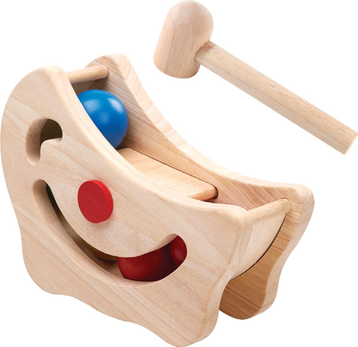 Plan Toys Развивающая игрушка Горка с шарами каталка утка plan toys