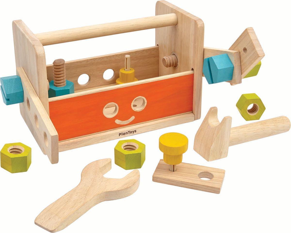 Plan Toys Конструктор Ящик для инструментов Робот конструкторы plan toys конструктор блоки