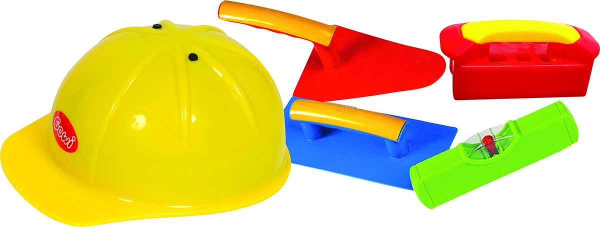 Gowi Набор игрушек для песочницы Строитель 5 предметов полесье набор для песочницы 469