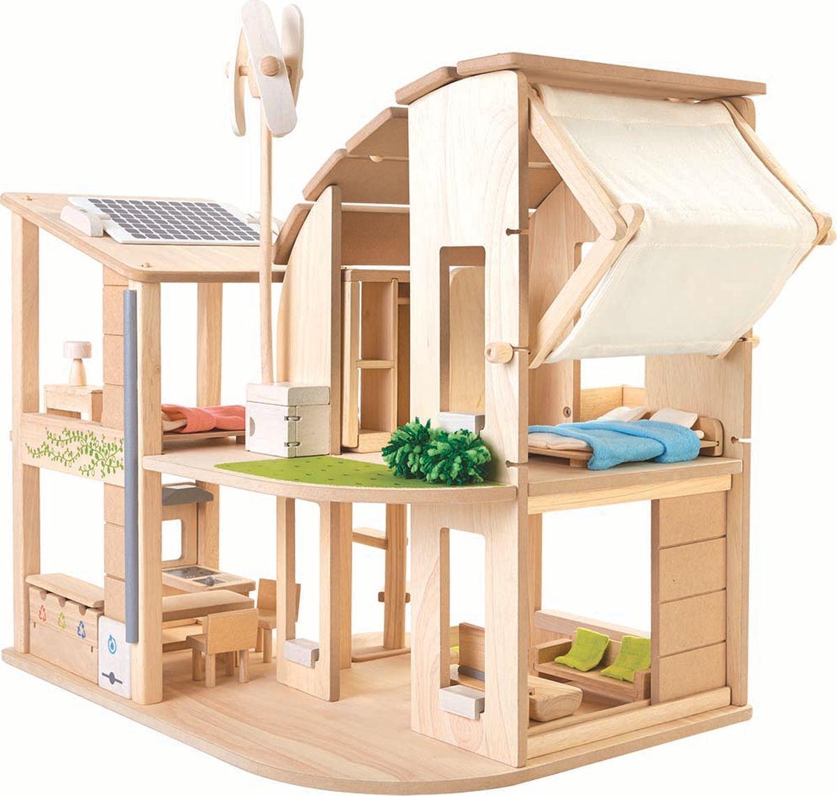 Plan Toys Дом для кукол Эко с аксессуарами дом кукольный из дерева