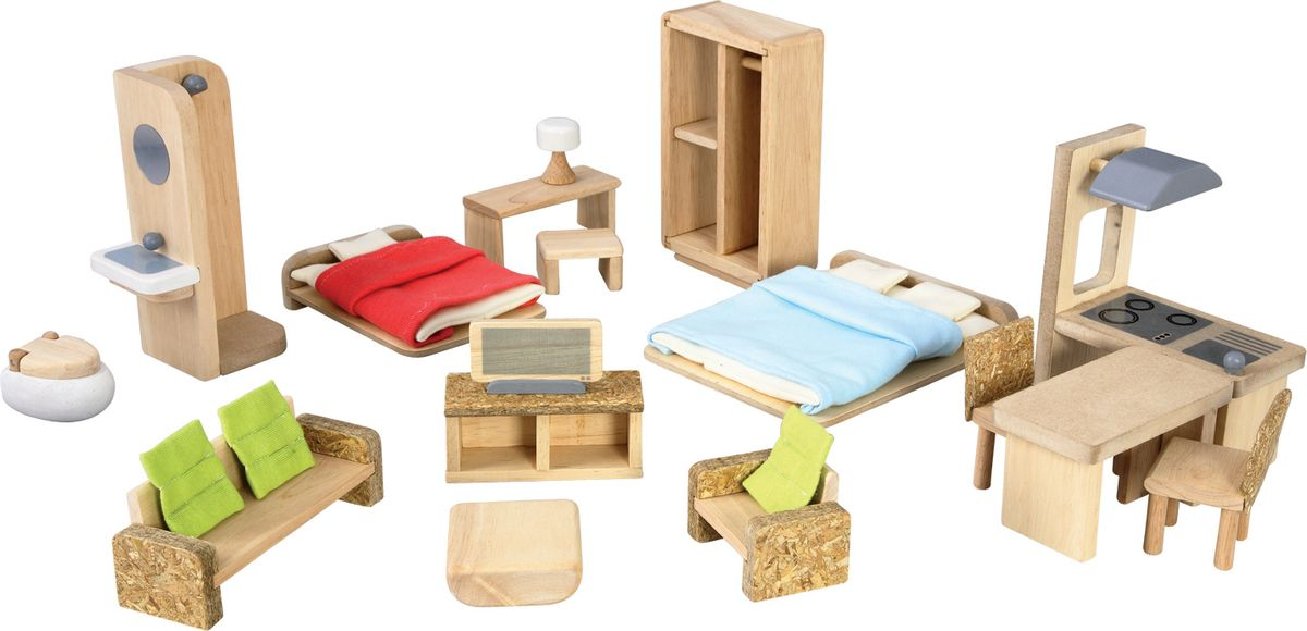 Plan Toys Мебель для кукол Набор для дома кукол домик