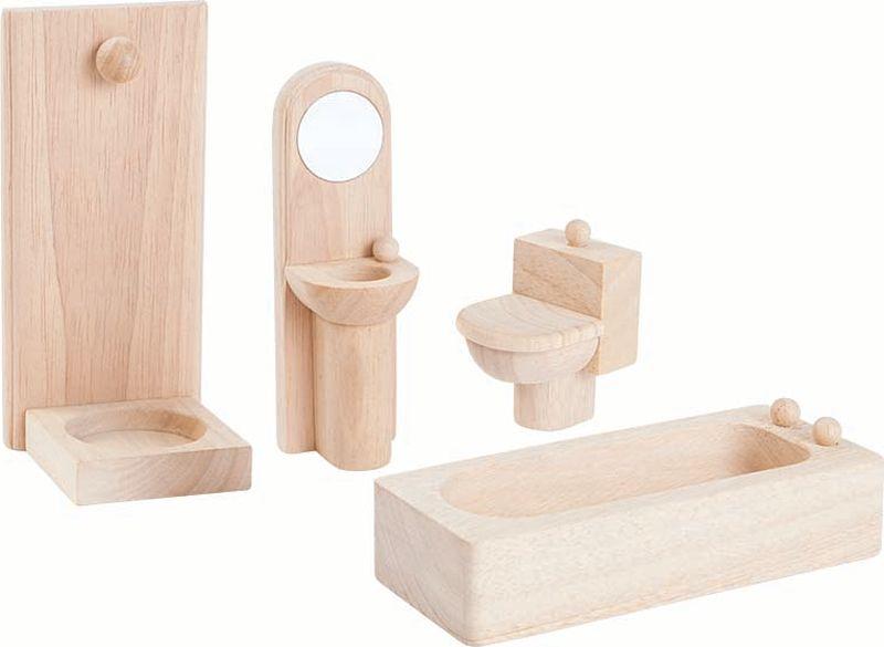Plan Toys Мебель для кукол Классик Ванная комната конструкторы happykon кукольный домик хэппидом коттедж с мебелью для кукол из дерева