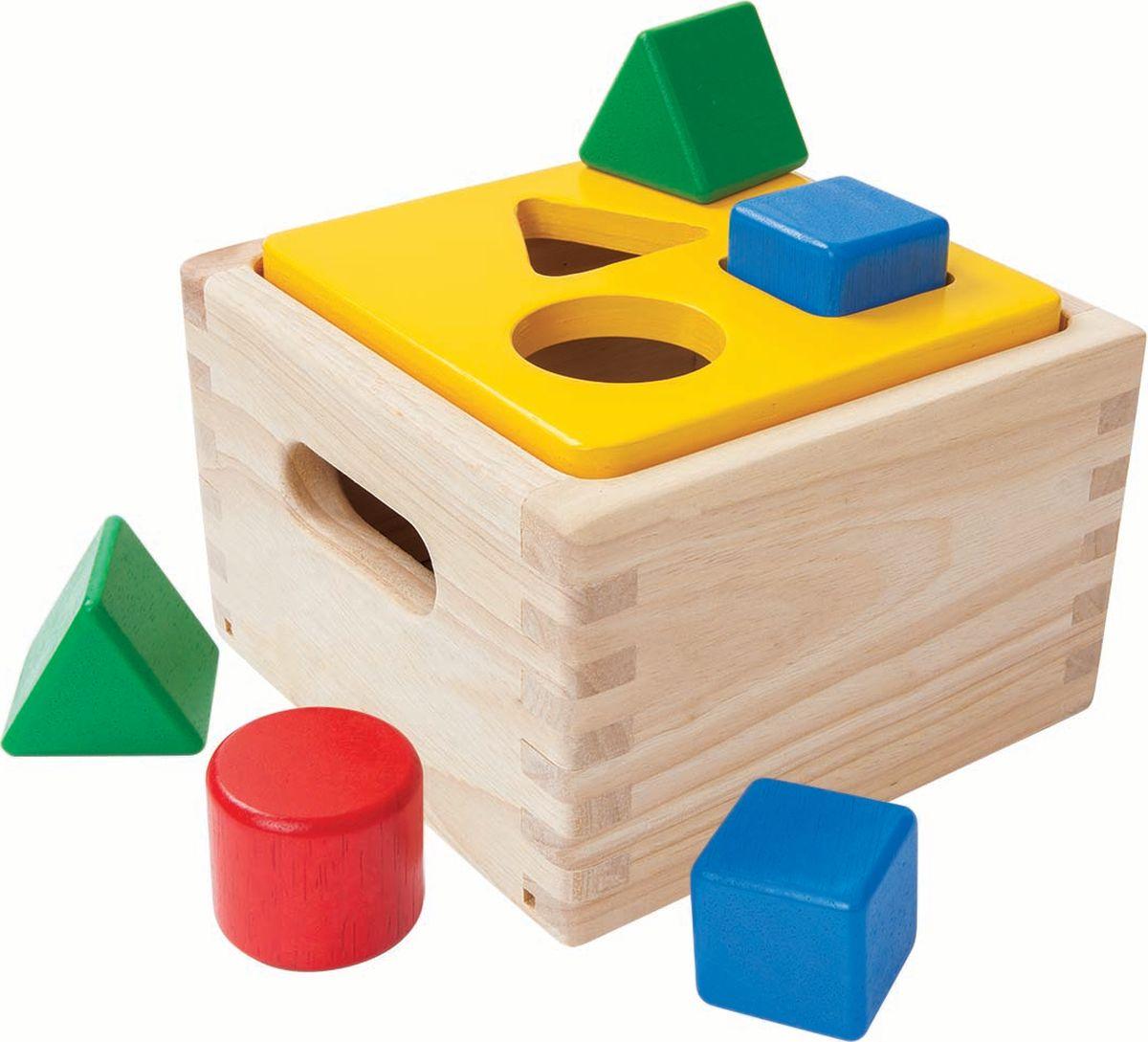 Plan Toys Сортер Блок для сортировки фигур конструкторы plan toys игра кактус