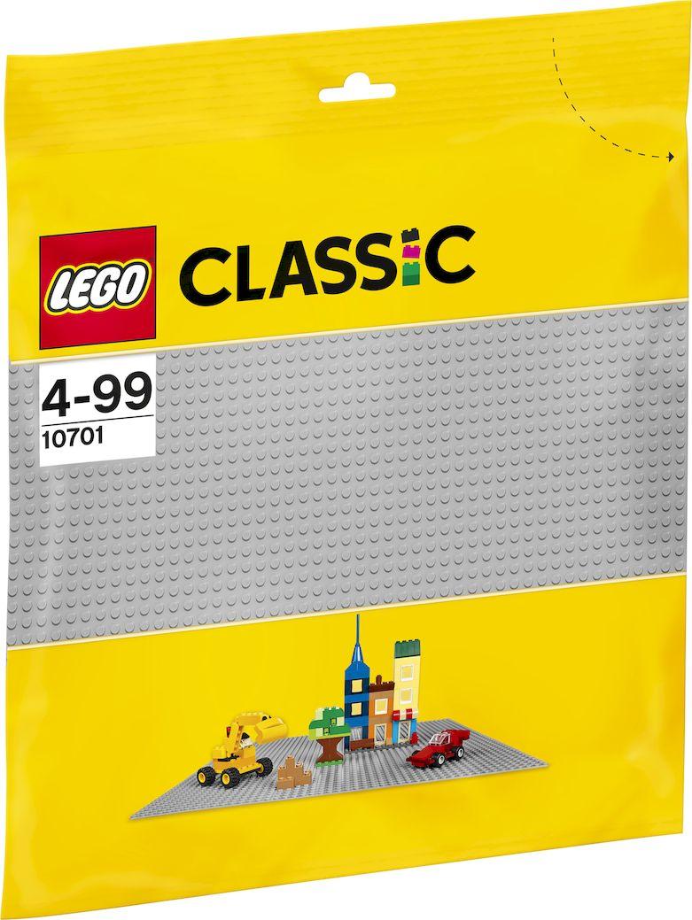 LEGO Classic Строительная пластина 38 х 38 цвет серый 10701 lego classic конструктор дополнение к набору для творчества яркие цвета 10693