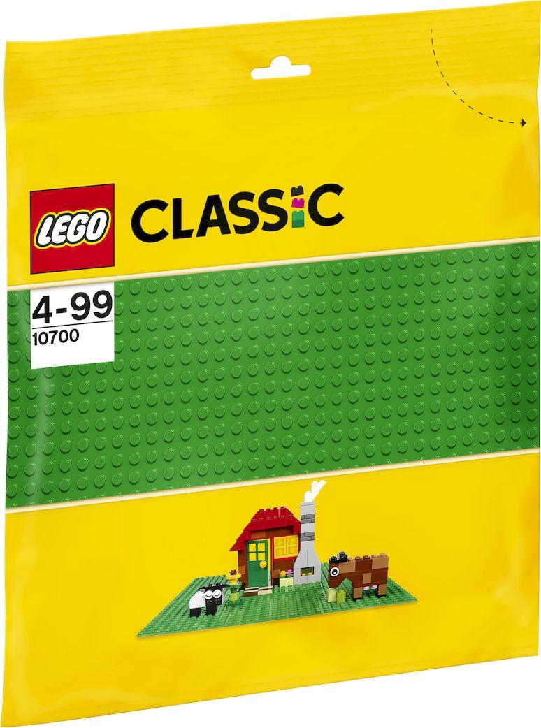 LEGO Classic Строительная пластина 32х32 выступа цвет зеленый 10700 lego classic конструктор дополнение к набору для творчества яркие цвета 10693