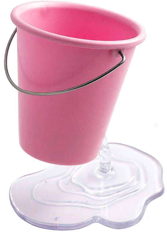 Эврика Органайзер настольный Ведерко цвет розовый -  Органайзеры, настольные наборы