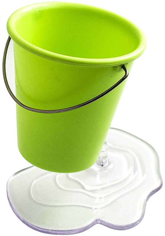 Эврика Органайзер настольный Ведерко цвет зеленый97102Необычная подставка для канцелярских принадлежностей Ведерко создает иллюзию, будто небольшое ведро зависло в воздухе, а из отверстия в нем прямо на стол вытекает вода. Хотите удивить коллег или сделать выполнение уроков для ребенка более радостным поставьте на стол эту удобную сборную подставку для ручек, и пристальное внимание вам обеспечено.