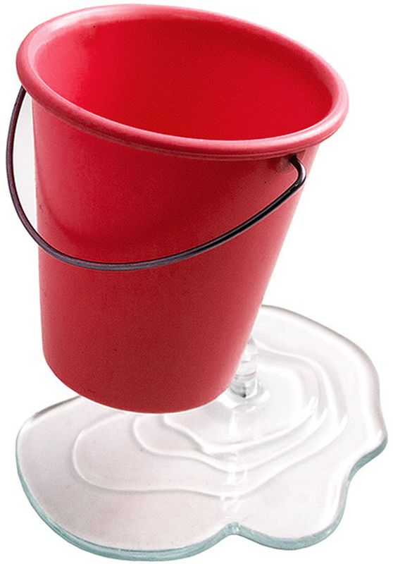 Эврика Органайзер настольный Ведерко цвет красный -  Органайзеры, настольные наборы