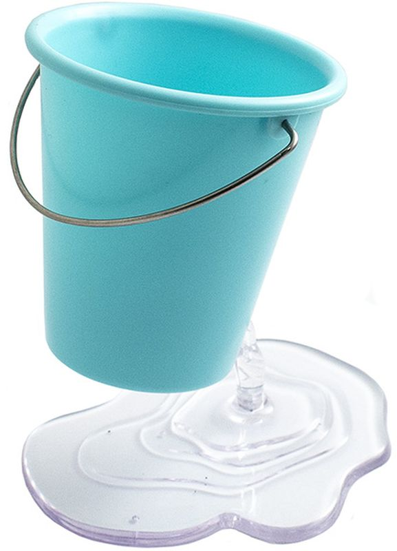 Эврика Органайзер настольный Ведерко цвет синий -  Органайзеры, настольные наборы
