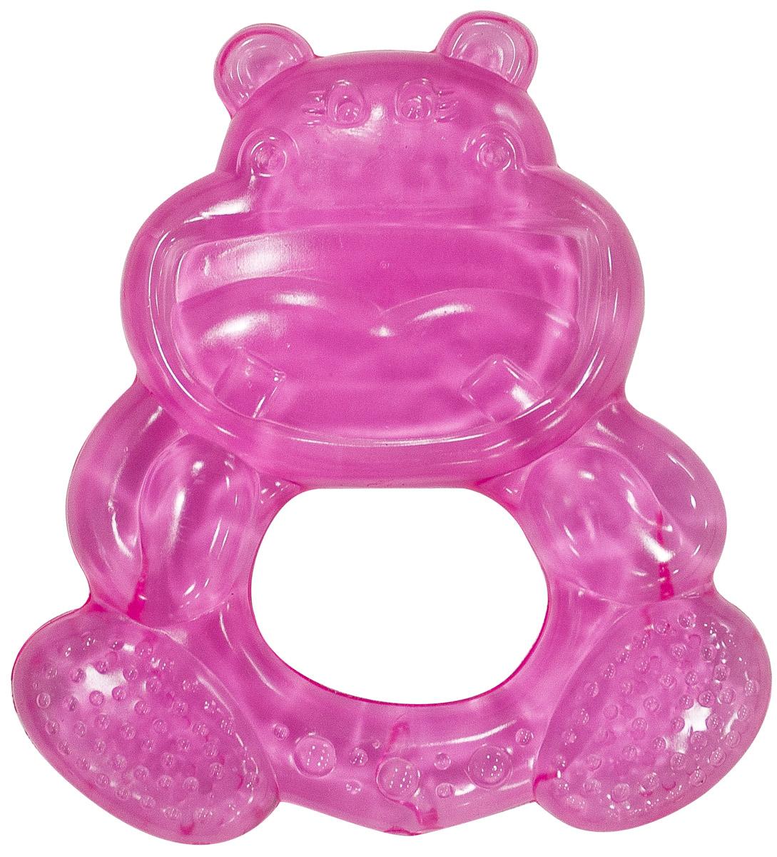 Canpol Babies Прорезыватель водный охлаждающий Бегемотик цвет розовый canpol babies прорезыватель водный с погремушкой лапка 0 canpol babies розовый