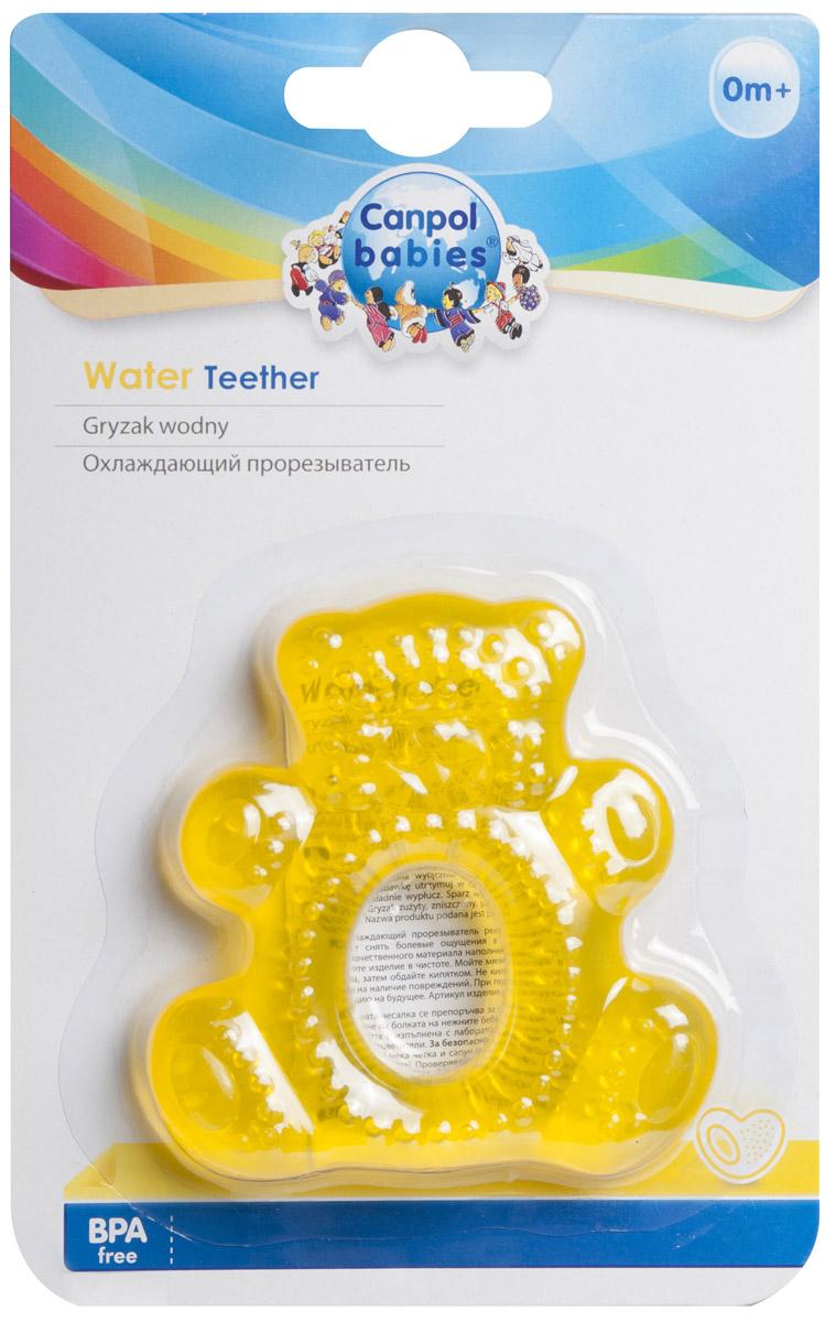 Canpol Babies Прорезыватель водный охлаждающий Мишка цвет желтый canpol babies прорезыватель охлаждающий ягодка цвет красный
