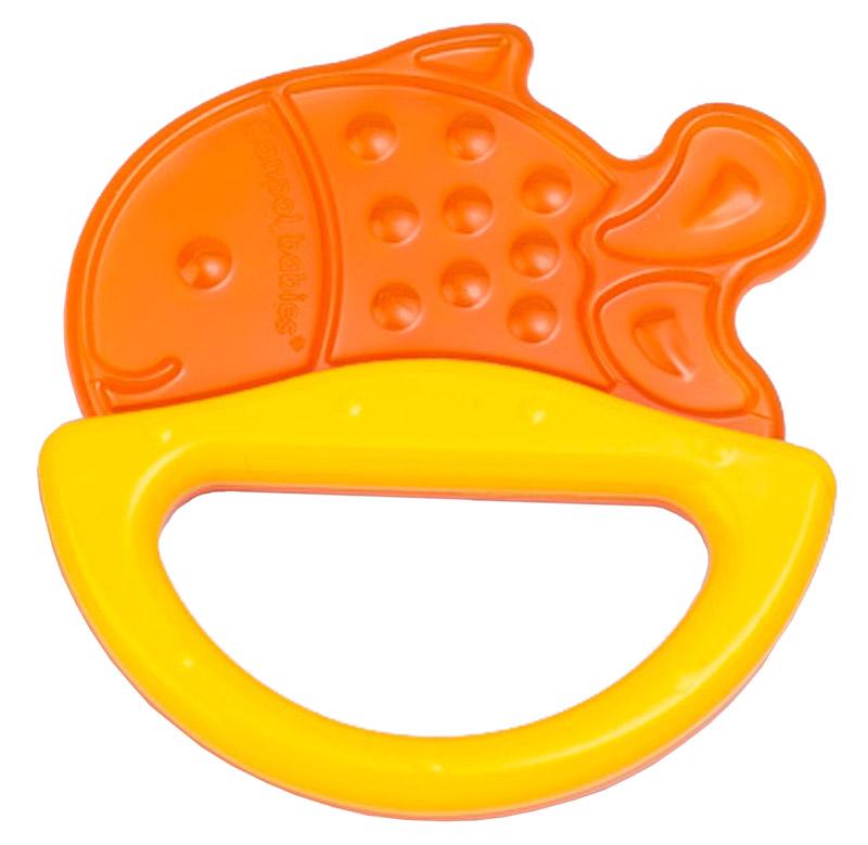 Canpol Babies Погремушка Рыбка с прорезывателем оранжевый желтый simba прорезыватель рыбка