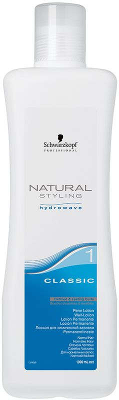 Natural Styling Лосьон Классик 1, 1000 мл1969343Лосьон Классик 1 для нормальных и слегка пористых волос. Содержит комбинацию увлажняющей технологии Hydrowave и Гидролизованный Кератин, которые гарантируют, что при использовании Natural Styling Classic вы получите превосходный результат химической завивки, стойкие локоны и волны, мягкость на ощупь, которая длится до 12 недель.