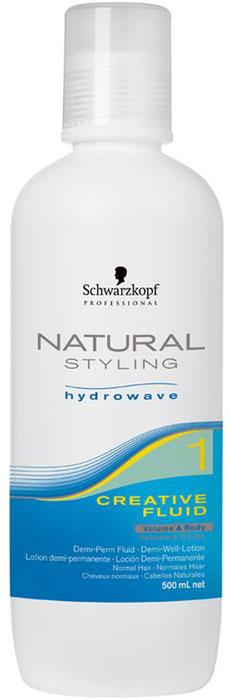 Natural Styling Креативный флюид, 500 мл1969346НС Креативный флюид 1. Содержит гидролизованный кератин. Разработан для восстановления и защиты структуры волос перед и во время химической процедуры. Разглаживает кутикулу волос. Превосходен для пористых волос и слегка пористых волос.