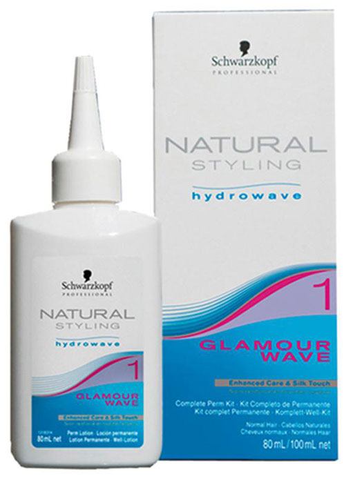 Natural Styling Glamour Комплект для химической завивки 1, 180 мл1969392НС Гламур комплект для химической завивки 1 для нормальных и слегка пористых волос; состоит из лосьона и нейтрализатора.