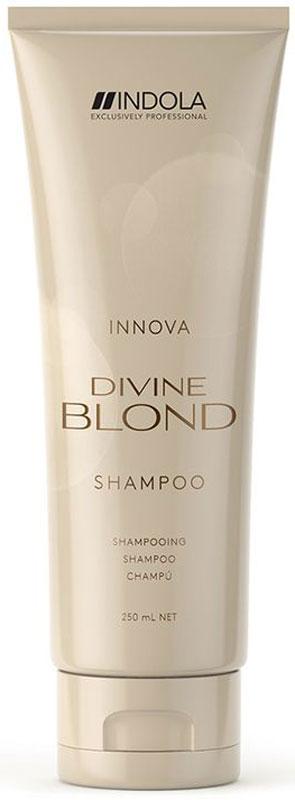 Indola Divine Blond Восстанавливающий Шампунь для Светлых Волос, 250 мл2083457Деликатно очищает волосы, придает им силу, мягкость и блеск. Комплекс Blonde&Force восстанавливает внутреннюю структру волос.