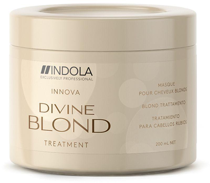 Indola Divine Blond Восстанавливающая Маска для Светлых Волос, 200 мл2083459Придает волосам здоровый вид и блеск. Комплекс Blonde&Force восстанавливает внутреннюю структуру волос, уменьшает их ломкость.