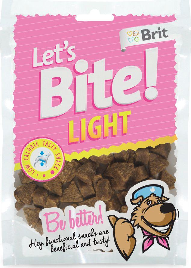 Лакомство для собак Brit Lets Bite! Light. Лайт, 150 г513819Низкокалорийное лакомство Brit Lets Bite Лайт предназначено для собак с лишним весом.Оно вкусное и полезное.Состав: рис, кролик, жидкий крахмал, коллаген, рыбий жир лососевых рыб, порошковая целлюлоза (30 г/кг), натуральные ароматизаторы, псиллиум (5 г/кг). Аналитический состав: сырой протеин 16%, сырой жир 6%, сырая зола 3 %, сырая клетчатка 4,5%, влага 17%.Питательные добавки на 1 кг: витамин C (3a312) 500 мг/кг.Тайная жизнь домашних животных: чем занять собаку, пока вы на работе. Статья OZON ГидЧем кормить пожилых собак: советы ветеринара. Статья OZON Гид