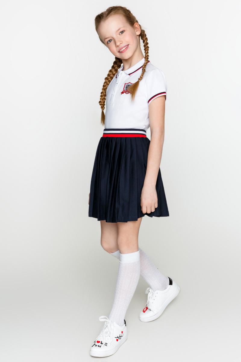 Юбка для девочки Acoola Simpson, цвет: темно-синий. 20240180011_600. Размер 140 джемпер для девочки acoola furia цвет бежевый 20210310023 800 размер 140
