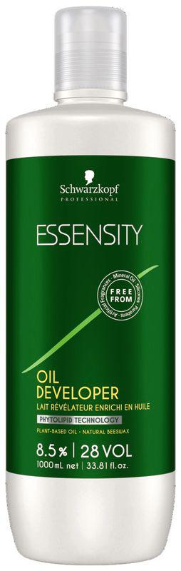 Essensity Активирующий лосьон на масляной основе 8,5%, 1000 мл1791120Эссенсити Активирующий лосьон на масляной основе. Использовать с красителем Essensity. Для осветления до 3-х уровней. Перед применением внимательно ознакомьтесь с инструкцией на упаковке продукта.