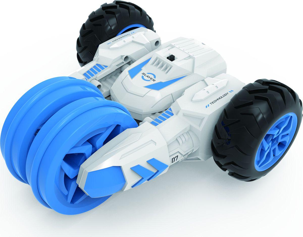 MKB Машинка на радиоуправлении Причудливый трюкач цвет белый голубой машинка на пульте управления для детей