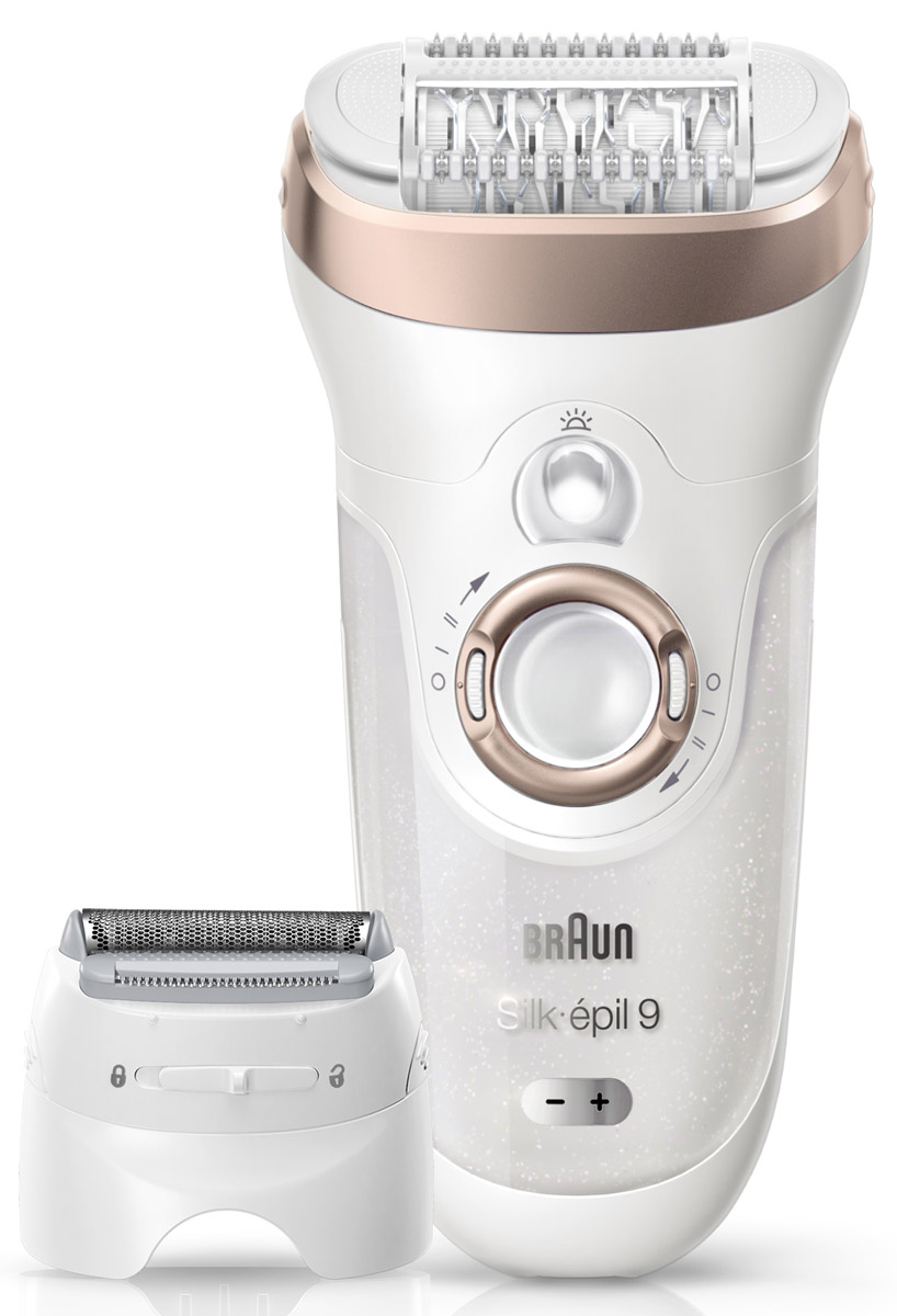 Эпилятор Braun Silk-epil 9 9-561 Wet & Dry с 6 насадками81476713_бежевыйЭпилятор Braun Silk-epil 9 - наш самый быстрый и точный эпилятор*, делающий кожу гладкой, как после салона, на срок до 4-х недель. В набор также входят 6 дополнительных насадок, позволяющих проводить полный набор процедур по удалению волос в домашних условиях.Преимущества:- Более широкая головкаГоловка эпилятора Braun Silk-epil 9 на 40% шире, благодаря чему она удаляет намного больше волосков одним движением, а значит, процесс эпиляции проходит быстрее. С новым стандартом эпиляции вы сможете наслаждаться кожей, долго сохраняющей гладкость, до 4 недель. - Micro grip technologyТехнология пинцетов Micro-grip. Эффективно удаляет волоски с корнем для гладкости, которая сохраняется надолго. - High frequency massage systemСистема высокочастотного массажа. С пульсирующей активной вибрацией – для лучшей мягкой эпиляции. - Pivoting headПлавающая головка. Мягко повторяет контуры тела для превосходного комфорта и эффективности. - Wet&DryТехнология Wet&Dry. Можно использовать прибор в ванне или душе для более комфортной эпиляции. - Система подсветки Smartlight. Увидеть всё.Система подсветки SmartLight позволяет увидеть даже самые тонкие волоски для сверхтщательного результата. - Long-lasting batteryДолговечный аккумулятор. 1 часа заряда хватает на 40 минут использования. Беспроводное использование в ванне или душе. - Адаптация к контурам телаМягко повторяет контуры вашего тела. - Choose your speed2 режима скорости. Скоростной режим 1 для более мягкой эпиляции, скоростной режим 2 для более эффективной эпиляции. - 100% waterproof100% водонепроницаемый. Легко моется под проточной водой, удобно пользоваться в ванне или в душе.