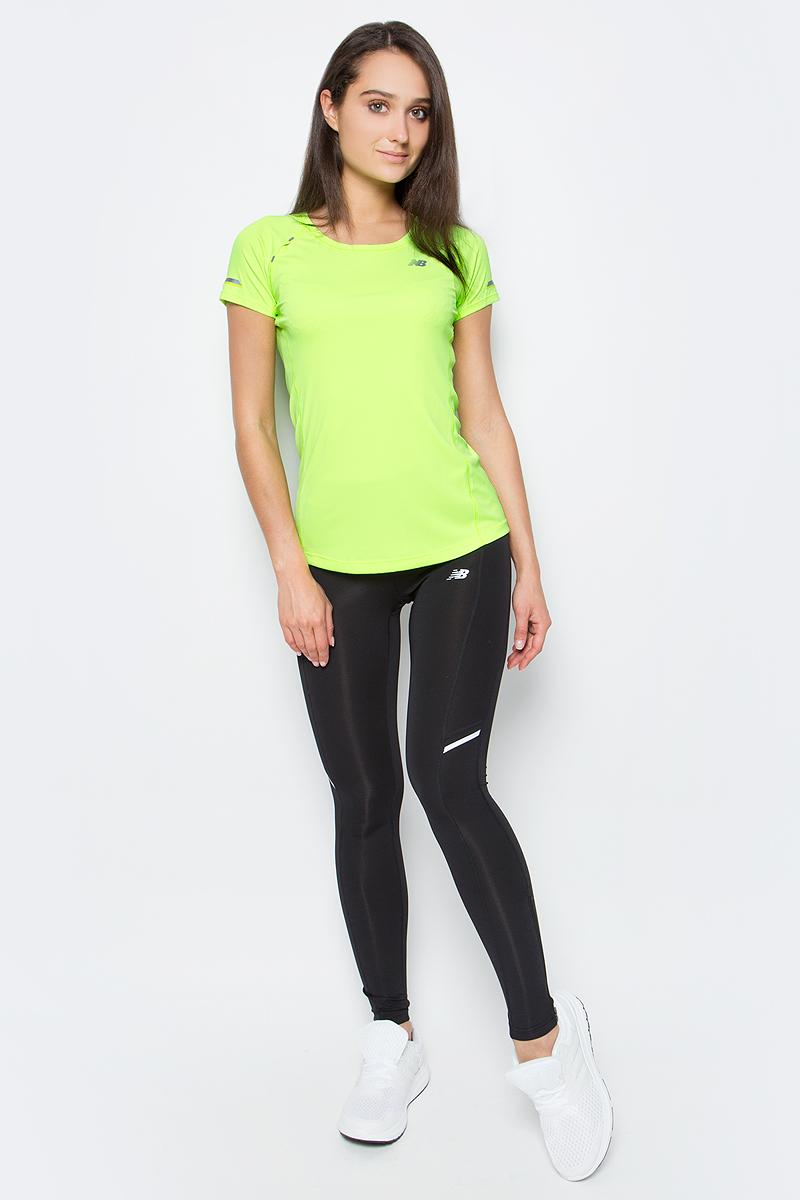 Футболка женская New Balance Ice Ss Tee, цвет: зеленый. WT63223/LIG. Размер L (48) футболка assault ice