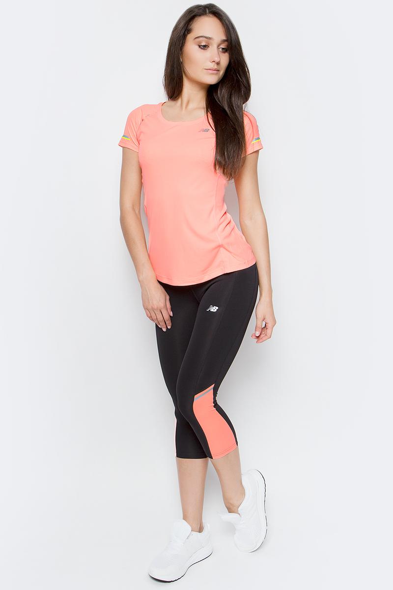Футболка для бега женская New Balance Ice Short Sleeve Tee, цвет: розовый. WT63223/BES. Размер M (46) футболка assault ice