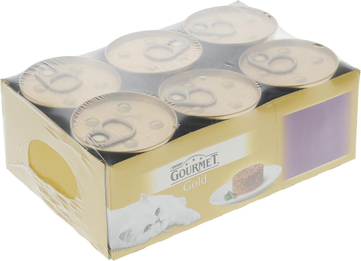 Консервы для кошек Gourmet Gold Нежные биточки, с ягненком и зеленой фасолью, 85 г, 12 шт gourmet консервы gourmet gold паштет для кошек с курицей 85 г