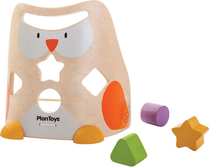 Plan Toys Сортер Сова plan toys сортер блок для сортировки фигур