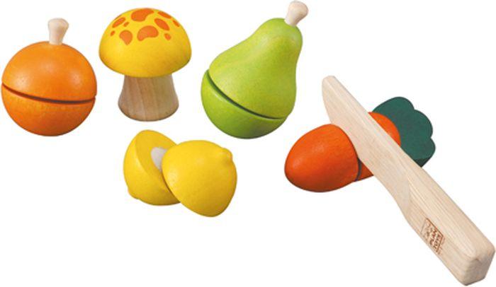 Plan Toys Игровой набор Фрукты и овощи 6 предметов
