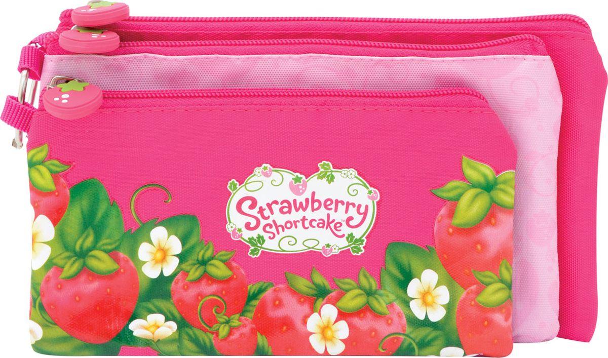 Action! Пенал Strawberry Shortcake цвет розовый SW-APC4216/4SW-APC4216/4Стильный пенал Action! - это супермодный аксессуар для вашего ребенка, который надежно сохранит все мелкие школьные принадлежности в целости и сохранности, защитив их от влаги. Аксессуар изготовлен из износостойкой, водонепроницаемой ткани, поэтому служить будет долго. Изделие состоит из трех отдельных пеналов на молниях, соединенных между собой металлическим карабином. Большой карабин даёт дополнительные возможности для ношения крепления пенала внутри ранца, для ношения с собой и крепления на ремешке, в случае необходимости.Удобный пенал от Action! станет незаменимым спутником вашего ребенка в походах за знаниями.Каждое отделения имеет свой размер:1-е - 19 x 10 см2-е - 21 х 12 см3-е - 23 х 13 см