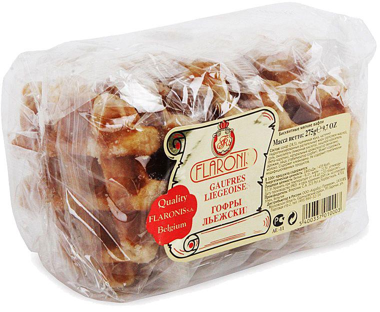 Flaronis Льежские гофры, 275 г конфэшн веселые тигрята вафли со вкусом сливочно орехового крема 200 г
