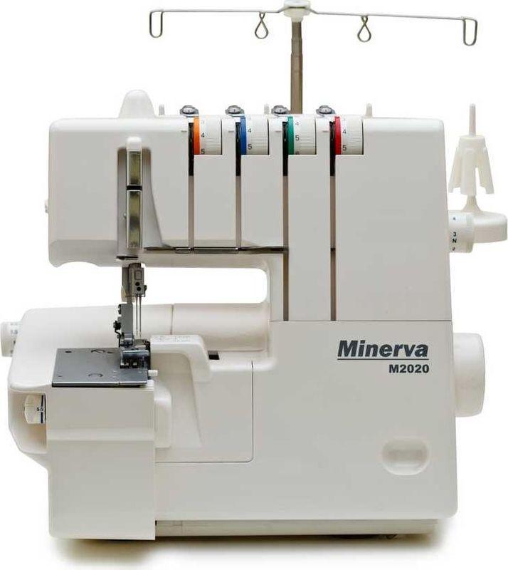 Minerva M2020 оверлокM-M2020Тип: распошивальная машина Кол-во игл: 1,2,3 Кол-во нитей: 2,3,4 Подъем лапки: до 4,5 ммВозможности:2-х ниточный цепной стежок2-х игольная узкая плоская строчка (2,8 мм)2-х игольная широкая плоская строчка (5,6 мм)3-х игольная плоская строчка (5,6 мм)Дифференциальная подача ткани 1:0.6 - 1:2Минимальная длина стежка: 1 ммМаксимальная длина стежка: 5 ммМинимальная ширина плоской строчки: 2,8 ммМаксимальная ширина плоской строчки: 5,6 ммЗаправщик цепного петлителя: естьРегулировка давления лапки на ткань: естьЦветная маркировка заправки нитей: естьСвободный рукав: естьСветодиодная подсветка LED: естьКонтроль натяжения нитей: ручнойПодъем игловодителя: 27 ммРучка для переноски: естьОтсек для принадлежностей: естьМаксимальная скорость шитья: 1100 ст/минМощность: 120 ВтВес машины: 7,26 кгАксессуары в комплекте:Отвертка (большая)МасленкаЩетка-кисточкаКомплект игл (3шт. 14/90)Сетка для катушек (4шт.)Шайба для схождения ниток (4шт.)НитевдевательОтвертка шестиграннаяПинцетДержатель катушки (4шт.)Страна производитель: Тайвань (Merrylock)