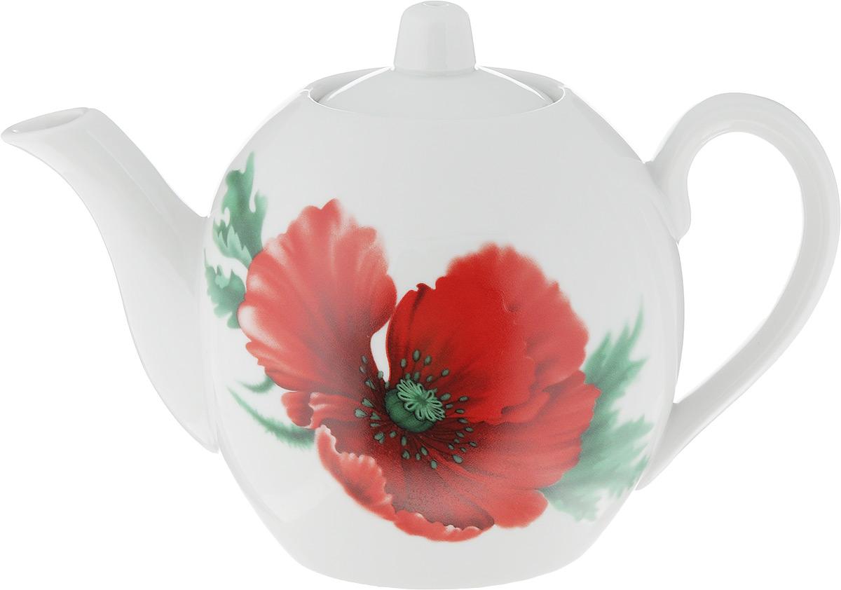 Чайник заварочный Фарфор Вербилок Маков цвет, 800 мл1640760Для того чтобы насладиться чайной церемонией, требуется не только знание ритуала и чай высшего сорта. Необходим прекрасный заварочный чайник, который может быть как центральной фигурой фарфорового сервиза, так и самостоятельным, отдельным предметом. От его формы и качества фарфора зависит аромат и вкус приготовленного напитка. Именно такие предметы формируют в доме атмосферу истинного уюта, тепла и гармонии. С заварочным чайником Фарфор Вербилок Маков цвет вы сможете ощутить более богатый, ароматный вкус чая или кофе. Изделие выполнено из высококачественного фарфора и украшено цветочным рисунком.Диаметр чайника по верхнему краю: 6 см. Диаметр основания чайника: 7,5 см. Высота чайника (без учета крышки): 11,5 см.