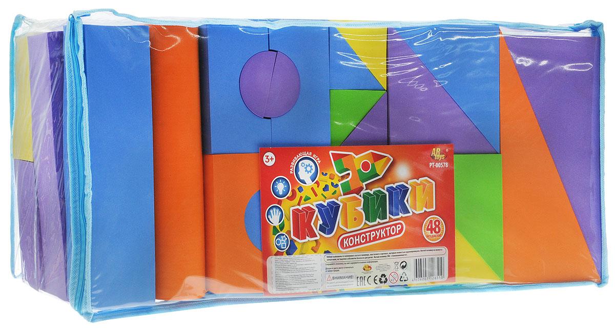 ABtoys Кубики мягкие 48 предметов