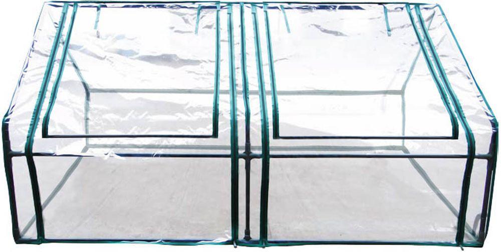 Парник сборный Garden Show, 90 х 90 х 180 см466184Сборный парник Garden Show состоит из металлического каркаса с антикоррозийным покрытием и чехла из прозрачной пленки ПВХ. Отличительной особенностью являются вентиляционные окна на молниях, которые обеспечивают удобный доступ к укрываемым растениям. Парник удобен в сборке, использовании и хранении. В среднем на сборку уходит 10-15 минут.