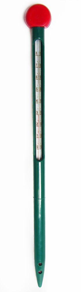 Термометр для почвы Garden Show, 32 х 2,8 см466366Термометр для почвы Garden Show, выполненный из пластика, предназначен для погружения в грунт на необходимую глубину. Специальная конструкция термометра позволяет с легкостью осуществлять погружение. Термометр абсолютно безопасен и удобен в эксплуатации. Имеет шкалу температур от 0 до +80°С.